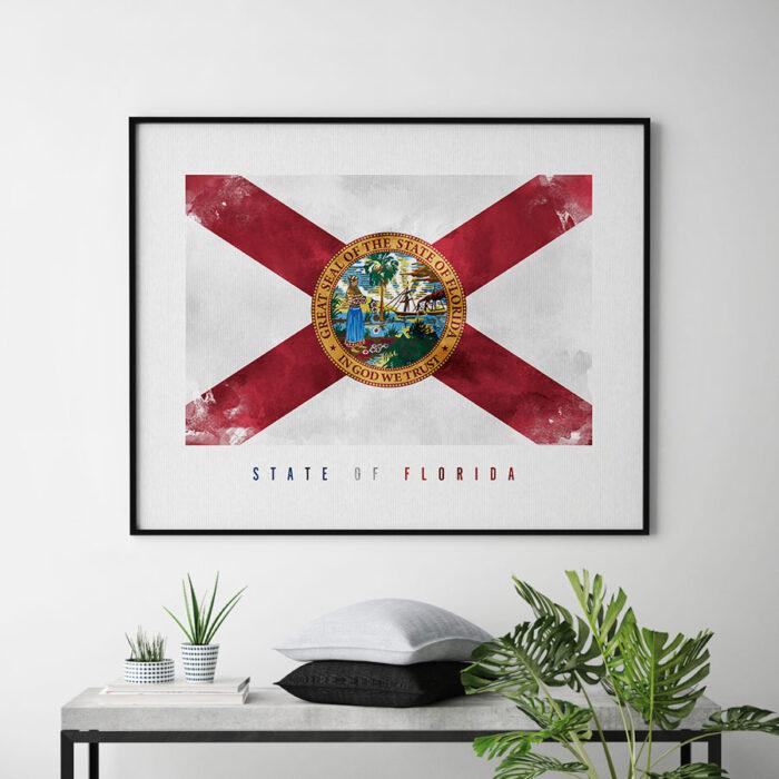 Florida State flag art print second