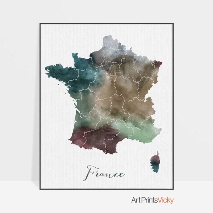 France map print
