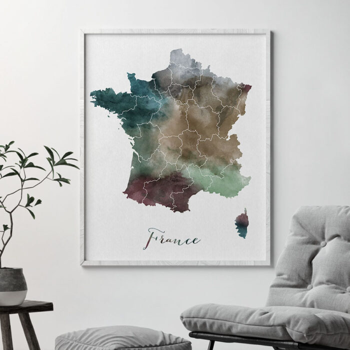 France map print second