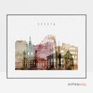 Geneva poster watercolor 1 landscape