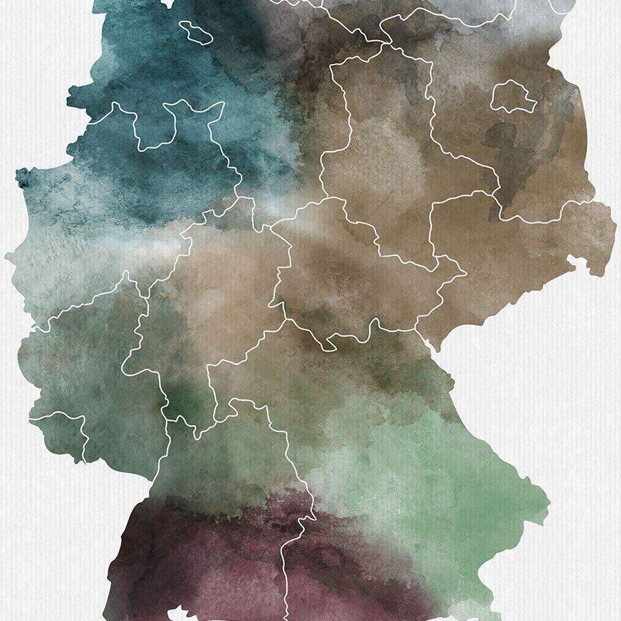 Deutschland map print detail