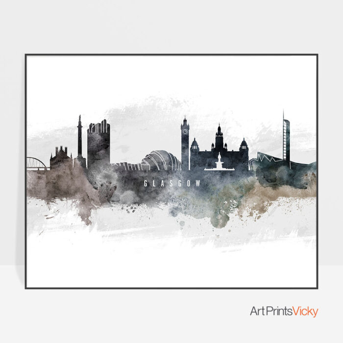 Glasgow art poster watercolor