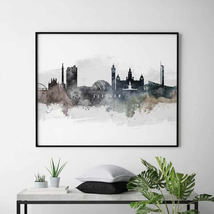 Glasgow art poster watercolor second