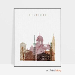 Helsinki poster watercolor 1