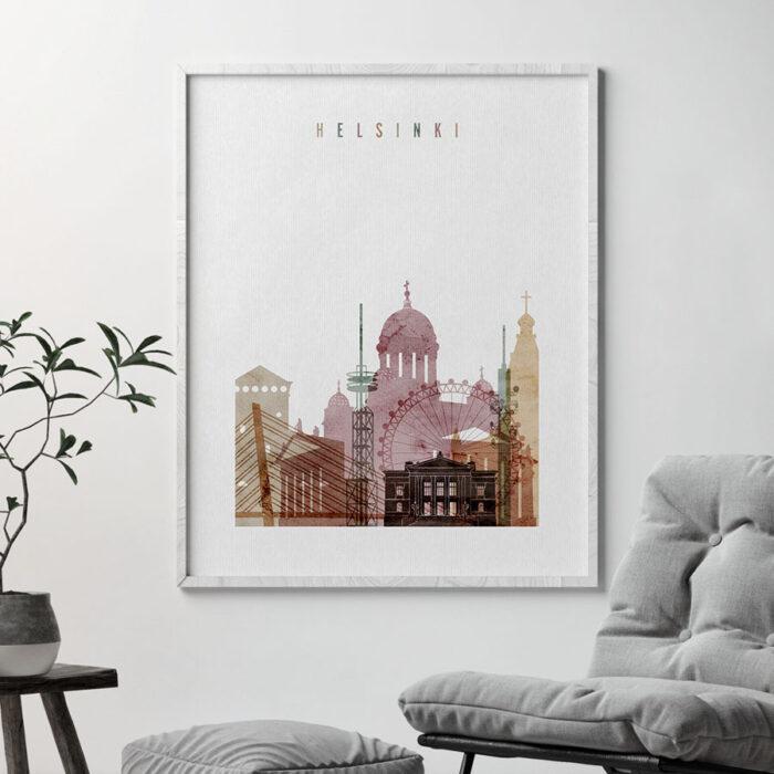 Helsinki poster watercolor 1 second