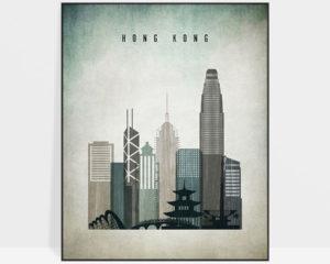 Hong Kong poster distressed 3