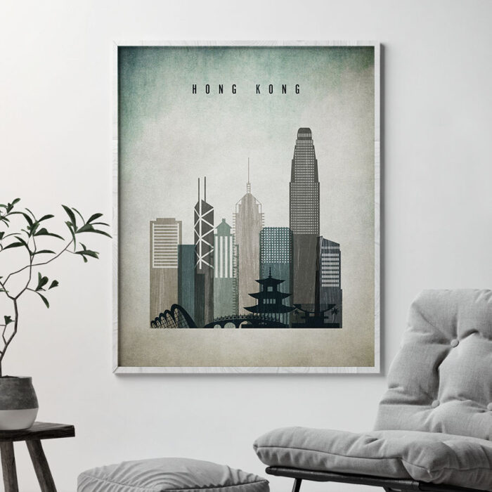 Hong Kong poster distressed 3 second
