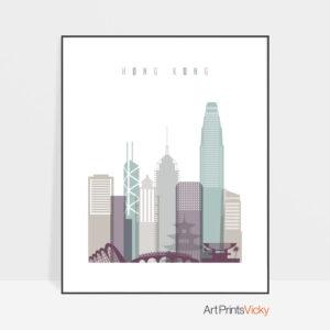 Hong Kong cityscape art pastel 2