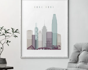 Hong Kong cityscape art pastel 2 second
