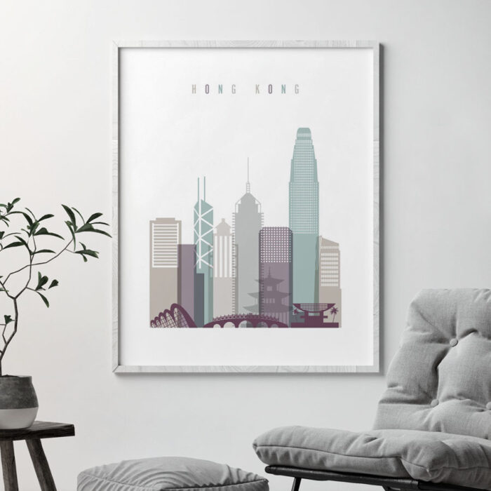 Hong Kong cityscape art pastel 2 second