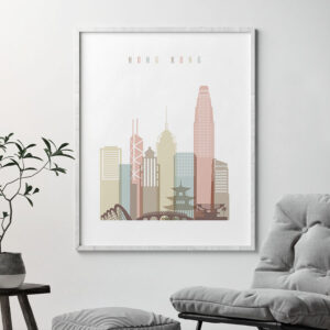 Hong Kong wall art pastel white second
