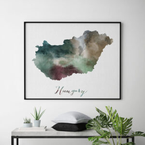 Hungary map poster second