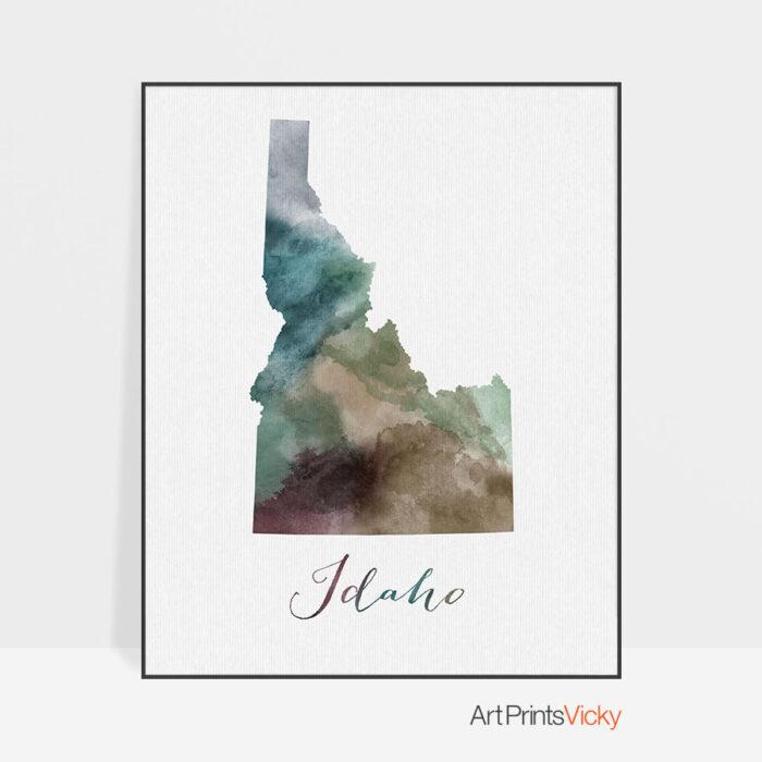 Idaho State map print