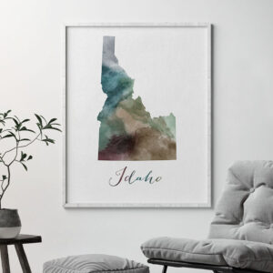 Idaho State map print second