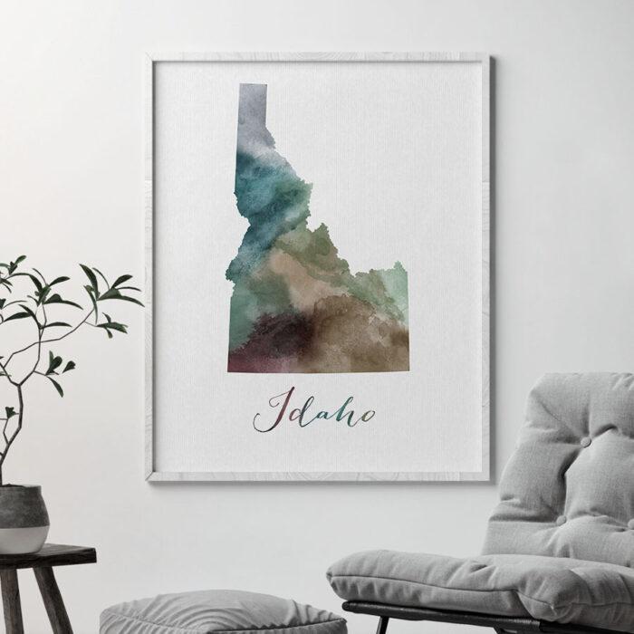 Idaho State map print second