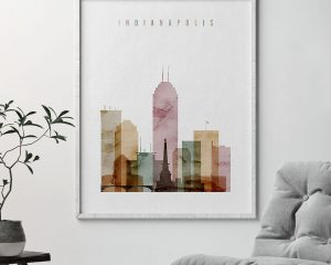 Indianapolis poster watercolor 1 second