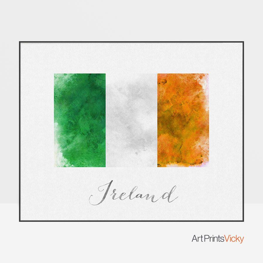 Ireland flag art print