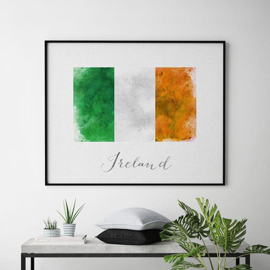Ireland flag art print second