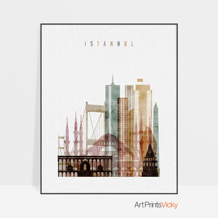 Istanbul poster watercolor 1