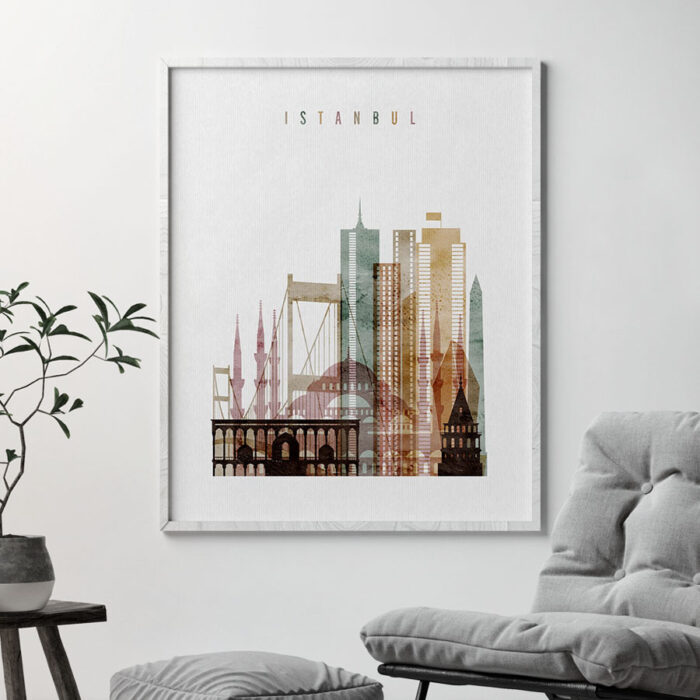 Istanbul poster watercolor 1 second