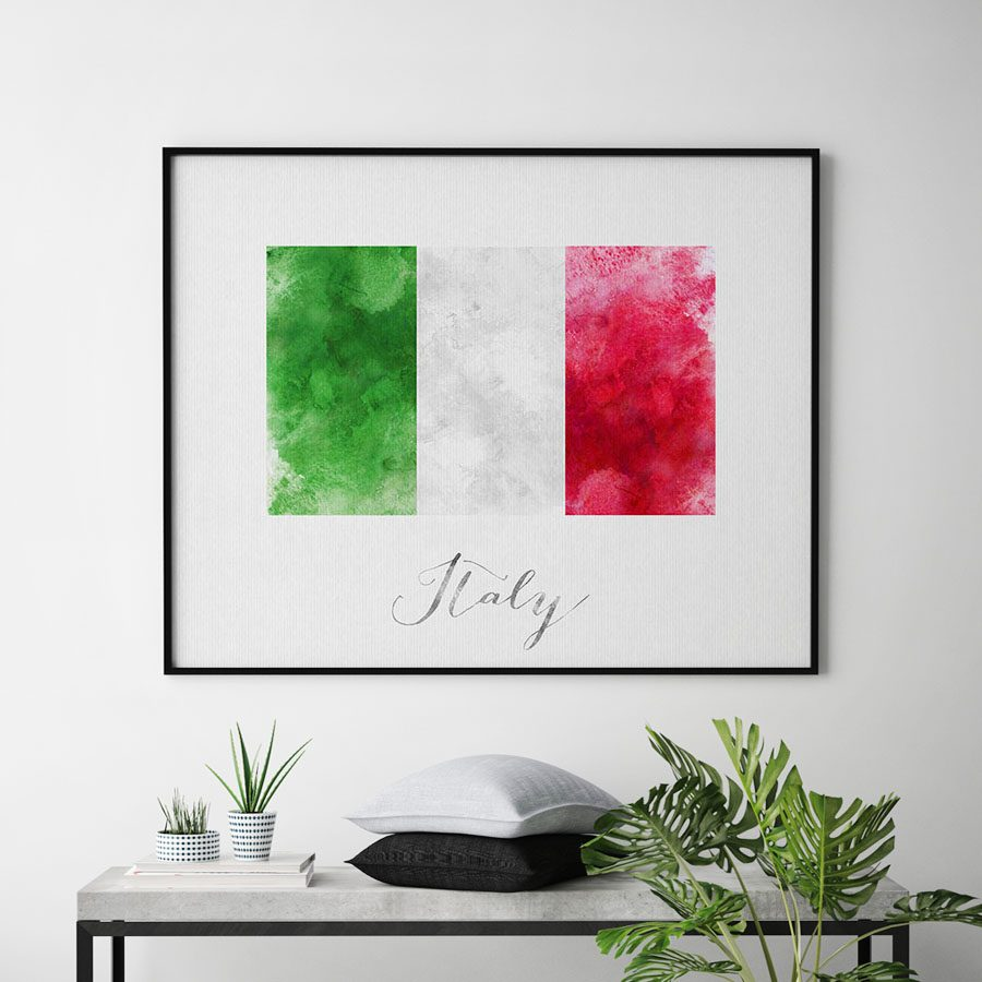 Italy flag art print second