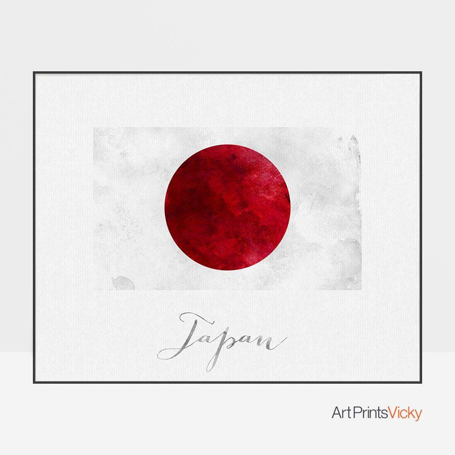 Japan flag art print