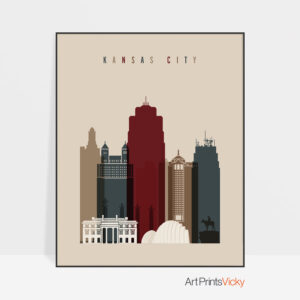 Kansas City poster earth tones 2