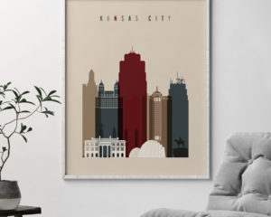 Kansas City poster earth tones 2 second