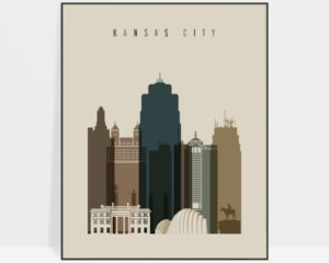 Kansas City art print earth tones 3
