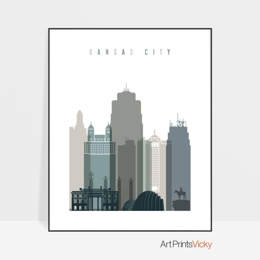Kansas City Poster Earth Tones 4