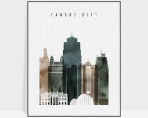 Kansas City poster watercolor 2