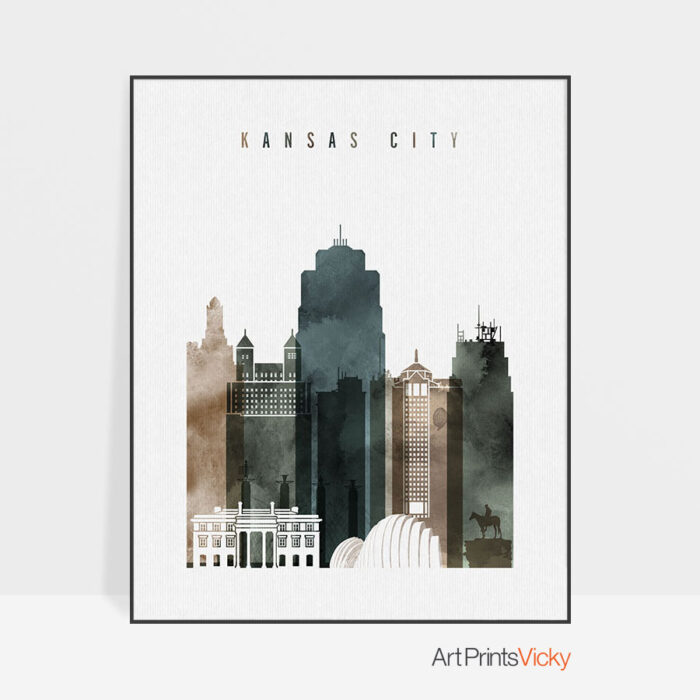 Kansas City poster watercolor 2