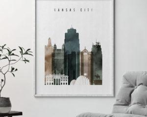 Kansas City poster watercolor 2 second
