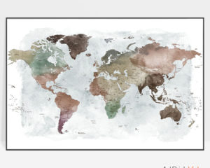 Large world map poster detailed