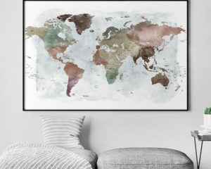 Large world map poster detailed second