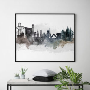 Las Vegas art poster watercolor second