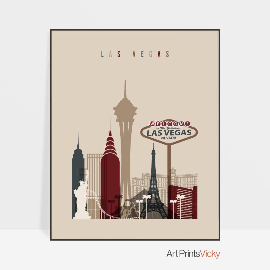 Las Vegas poster earth tones 2