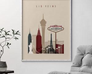 Las Vegas poster earth tones 2 second