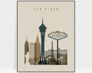Las Vegas art print earth tones 3