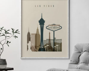 Las Vegas art print earth tones 3 second