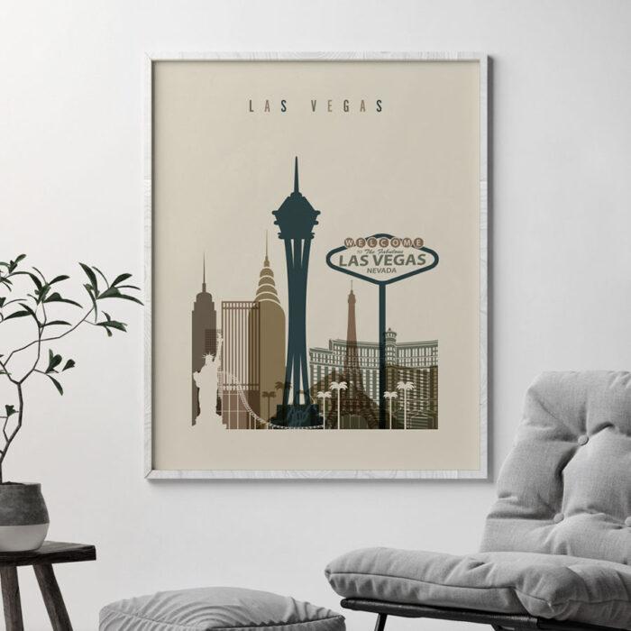 Las Vegas art print earth tones 3 second
