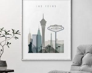 Las Vegas art print skyline earth tones 4 second