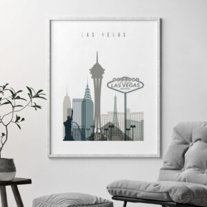 Las Vegas art print skyline earth tones 4 second