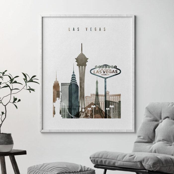Las Vegas art print watercolor 2 second