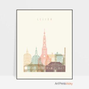 Leiden poster skyline pastel cream