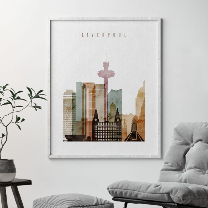 Liverpool city poster watercolor 1 second