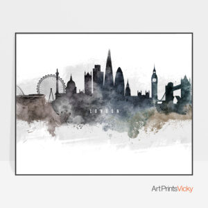 London art poster watercolor