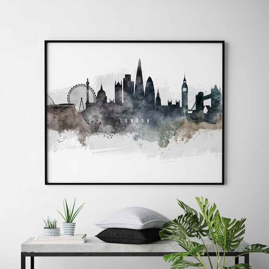 London art poster watercolor second