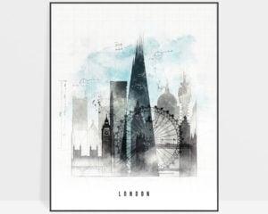 London skyline art print urban