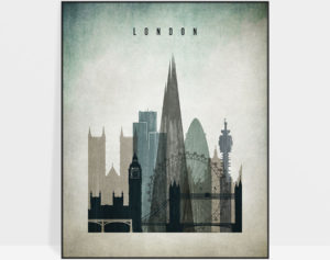 London poster distressed 3
